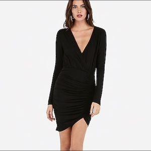 Olivia Culpo Asymmetrical Surplice Sheath Dress